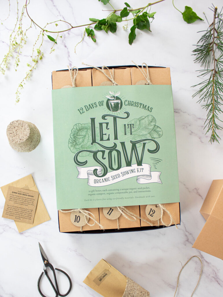 let is sow 12 day organic seed advent calendar